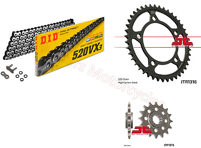 Honda NC750 X 2014 & 2015 DID X-Ring Chain & JT Sprockets Kit Set