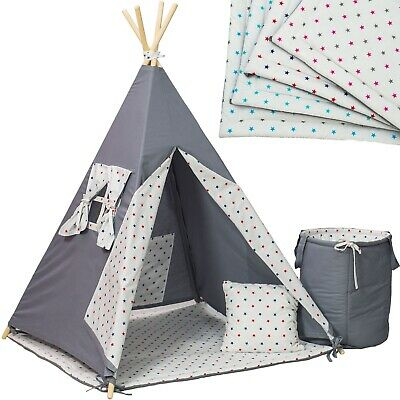 Wigwam teepee tent, Kids, play, outdoor, indoor, bedroom, mat, pillow,5 elements