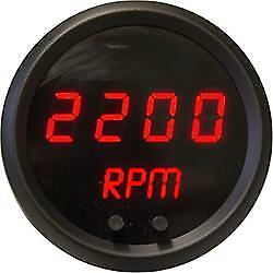 "INTELLITRONX M9002R Programmable Digital Mini-Tachometer 2 1/16"" in Black Trim"
