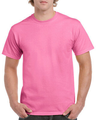 GILDAN PINK Heavy Cotton T Shirt MENS PLAIN AZALEA T-SHIRT: S M XL XXL