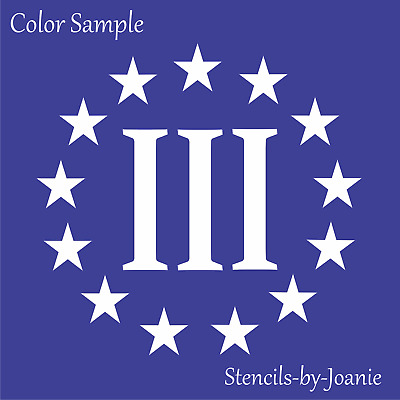 Joanie Stencil 3% Circle Stars Percenter Patriot Liberty 1776 Betsy Ross Flags