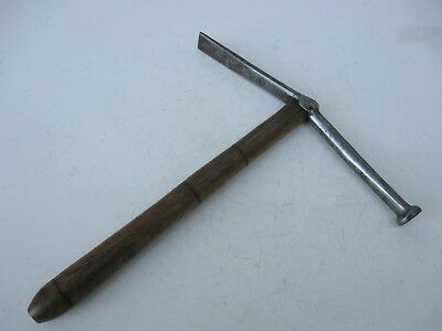 Genuine Antique Rare Unusual Saddler's Hammer Carbon Stell Very Tall Tool