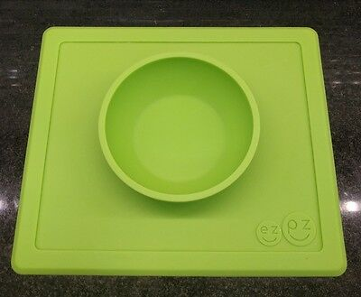 Ezpz Easy Peasy Happy Bowl One Piece Silicone Placemat And Bowl Lime Green
