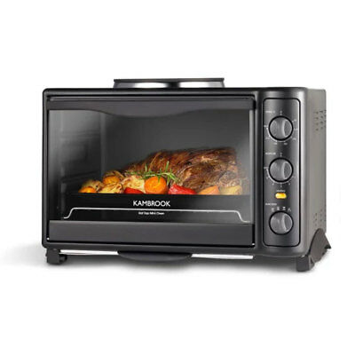 Kambrook 19L Hot Top Mini Oven w/ Single Hotplate Roasts/Bake/Grilling/Cooking