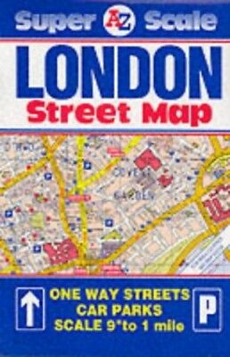 Super Scale Map of London (Street Map) Sheet map, folded Book The Cheap Fast