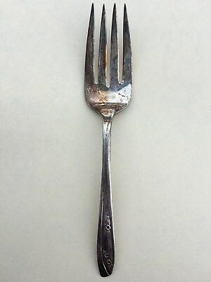 """WM Rogers IS """"LADY FAIR"""" Silverplate,1957  Cold Meat Serving Fork"""