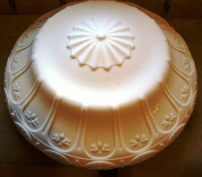 """Vintage ART DECO  Frosted Glass Ceiling Light Shade Globe 18"""" w/ 14 3/4"""" Fitter"""