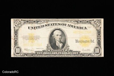 Series 1922 U.S. Large Size Gold Certificate in VF Condition