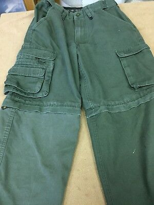"""Boy Scouts of America Convertible Uniform Pants Youth 10 26""""Inseam Unhemmed"""
