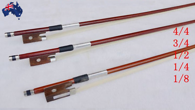 Adjustable Violin Bow For Violin 4/4; 3/4; 1/2; 1/8 ;1/4 Real Horse Hair NEW