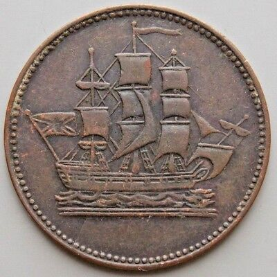 Prince Edward Island Canada Canadian Ships Colonies & Commerce Token PE10-35