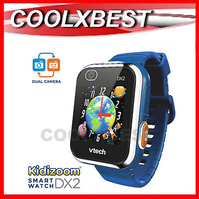 NEW VTECH KiDiZOOM DX2 KID's SMART WATCH / CAMERA TOUCH SCREEN DIGITAL BLUE