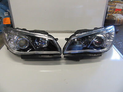 Holden Commodore Vf 2013-2018 Ss Sv6 Headlights Pair Rh + Lh Hand New Black