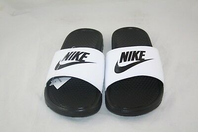 Nike BENASSI JDI Men's White/Black-Black 343880-100 Slide Sandals