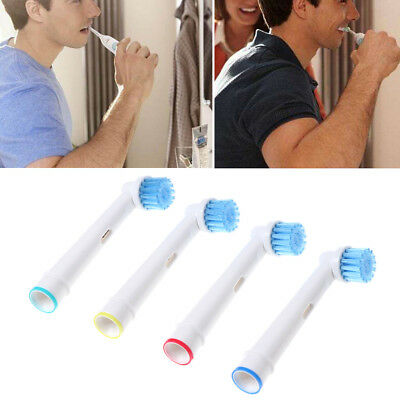 4Pcs EB-17S Electric Toothbrush Head Soft Bristle Replacement for Oral B Brushes