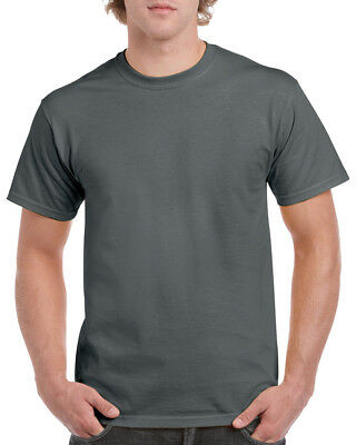GILDAN CHARCOAL GREY Heavy Cotton T Shirt MENS PLAIN T-SHIRT: S M XL XXL