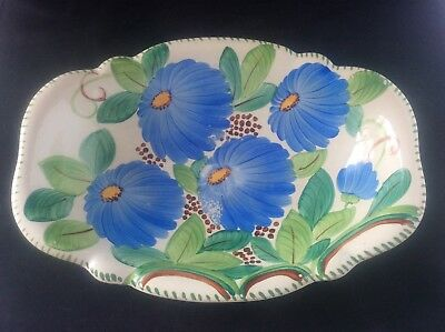 1930 Susie Cooper Art Deco Grays Pottery Fruit Bowl Handpainted Centrepiece 10""