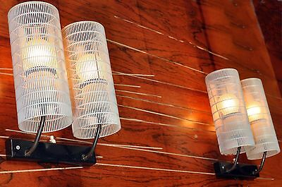 Pair Perforated Wall Lamps Probably Bur Bünte & Remmler Mid Century Mategot Age