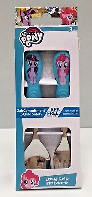 Disney My Little Pony 2Pce Easy Grip Kids Flatware Spoon & Fork Cutlery Set