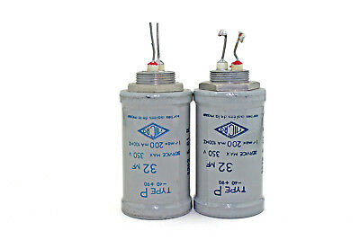 Amp part, Micro Electrolytic Capacitor 32mF 350V - condensateur X2 vintage