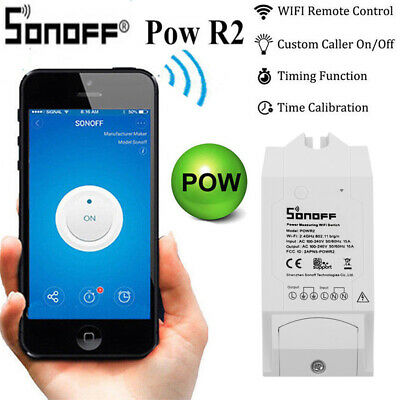 Sonoff Pow R2 15A WiFi Wireless Smart Switch Module Power Remote Control Timer