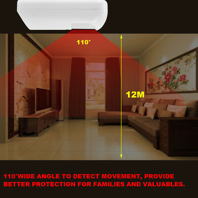 433MHz Wireless PIR Infrared Motion Detector Sensor Home Security Alarm System T