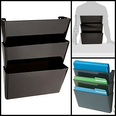 Office Stackable Letter Size Hanging Wall Mount Files Holder Storage Organizer
