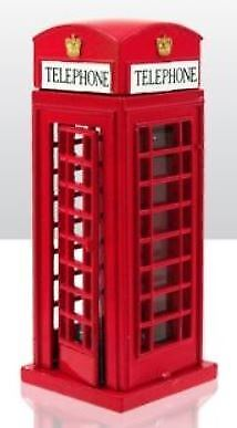 Die Cast Metal Telephone Box Gift London Souvenir Red Iconic Travel Journey