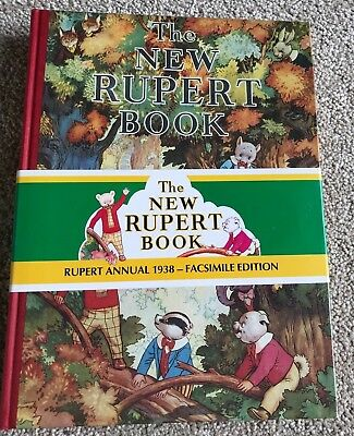 RUPERT ANNUAL 1938 FACSIMILE with wrap round band  BRAND NEW