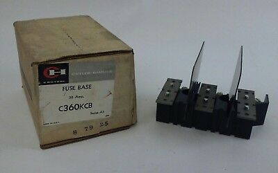Eaton Cutler Hammer C360KCB Series A1 FUSE BASE - 3 Pole, 30 Amp (NEW IN BOX)