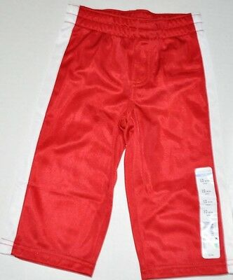 New Baby Boys Athletic Lounge Track SweatPants Sweat Pants Red & White