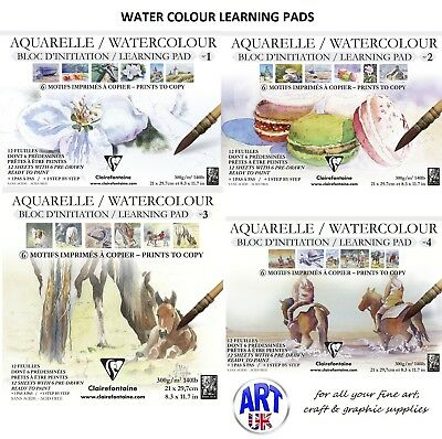 Clairefontaine Artists Watercolour Painting Initiation Learning Paper Pad 140lb