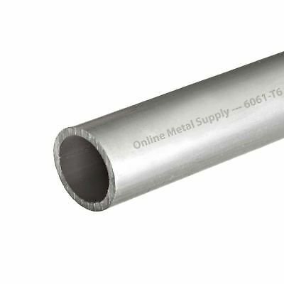 """6061-T6 Aluminum Pipe 2 inch NPS, 12 inches long, SCH 40 (2.37"""" OD x 2.06"""" ID)"""