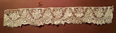19th C.  Belgian Point de Gaze handmade needle lace - COLLECT STUDY