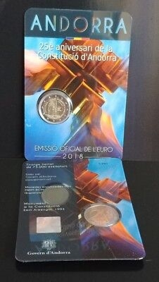 "2€ Andorra 2018 ""25th Anniversary of the Constitution of Andorra"""