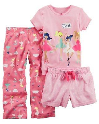 d54955bea NEW CARTER S GIRLS Unicorn Gown PJs Girl   Doll Pink Pajamas NWT 3 ...