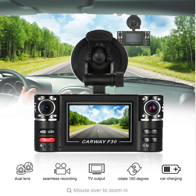Dual Lens Car Vehicle DVR Dash Cam Digital Video Recorder 1080P HD Night Vision
