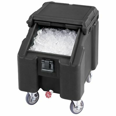 Cambro ICS100L110 Black Standard SlidingLid Ice Caddy - 100 lbs
