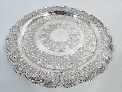 Exotic Tray - Middle Eastern Stylish Serving Platter - Egyptian 900 Silver