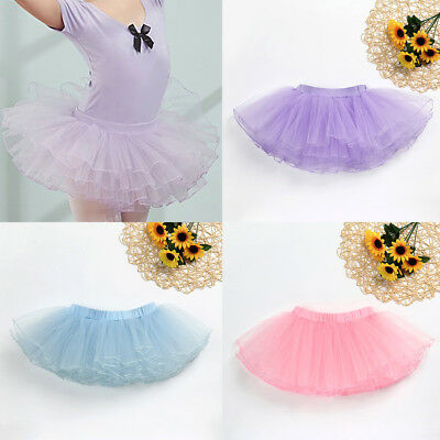 Ballet Tutu Princess Skirt Up Dance Wear Costume Party Girls ToddlerBaby