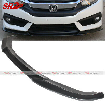 OEM Painted Color Fits 16-18 Honda Civic Sedan Coupe CS PU Front Bumper Lip