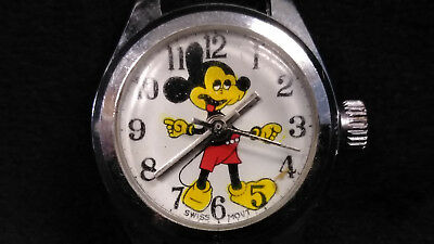 Swiss Movement Vintage Mickey Mouse Ladies Wristwatch