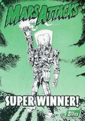 Mars Attacks 1994 Super Winner! Redemption Card