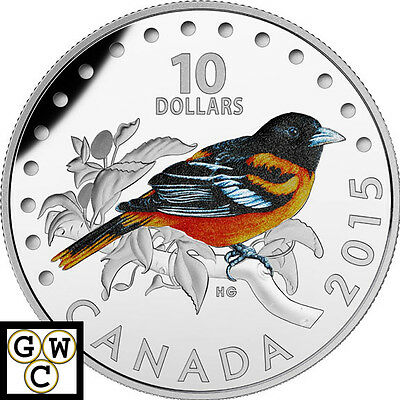 2015 Baltimore Oriole Colorized Proof $10 Fine Silver 1/2oz.Coin (17340)(NT)OOAK