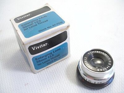 Vintage Vivitar Enlarging Lens 50mm F3.5 with Leica Thread 67-7536 EUC