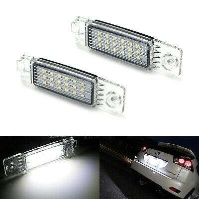 OEM-Replace 18SMD LED License Plate Light Assy For Toyota Highlander Lexus RX300