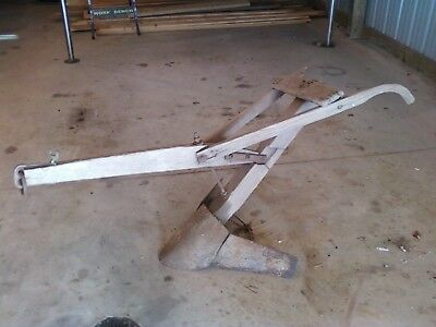 antique horse drawn plow, 1800's great for display