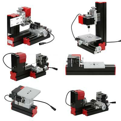 Mini DIY 6 in 1 Motorized Jigsaw Grinder Wood Metal Lathe Woodworking 100-240V
