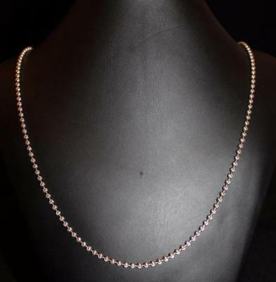 Silver 925 Sterling Unique Ball Bead Necklace Jewelry W/ Moon Cut 27.5 In (S84)