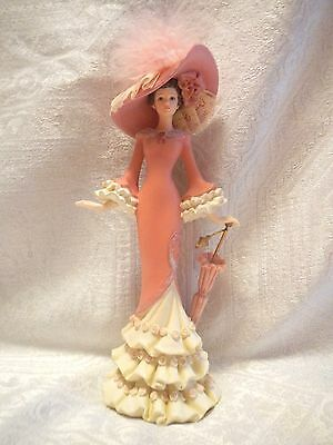 """Thomas Kinkade Lady Figurine 2007 """"a Vision Of Hope"""" Collection Numbered"""